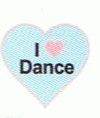 I Love Dance - Enamel  Charm